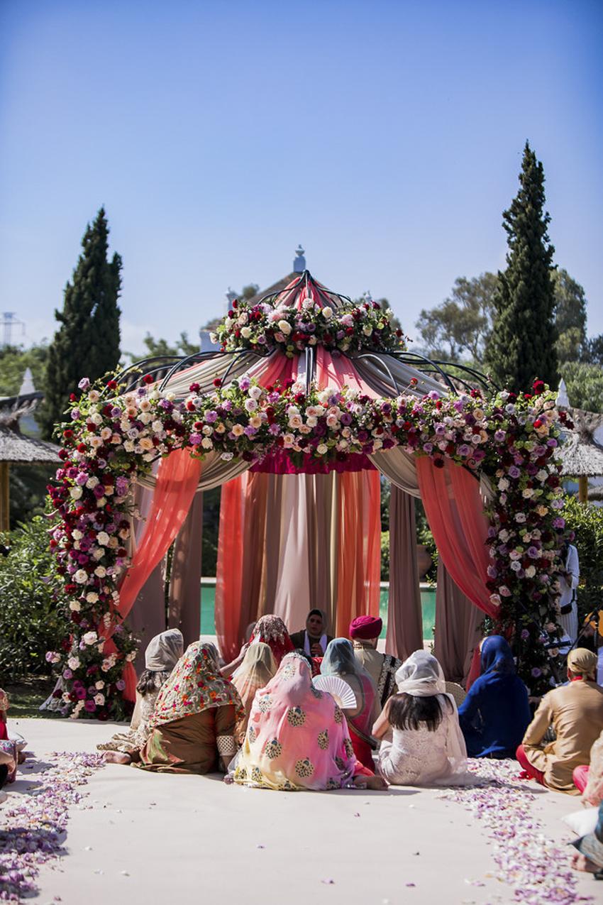 Hindu wedding at finca Monasterio Sotogrande